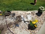 Springville Rockfall, Impacts through Decorative Gravel Bed