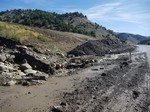 Spanish Fork Canyon, US-6 Flooding, Incised Catch Basin and Transported Flood Deposits